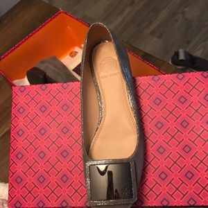 Tory Burch Pewter Ballett Shoe
